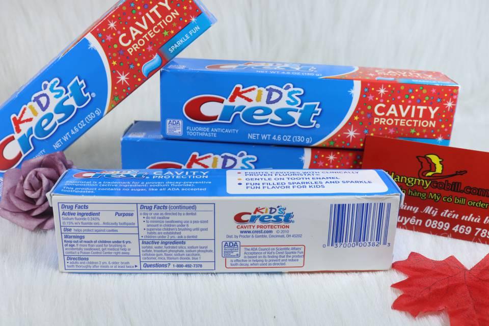 Kem đánh răng Crest Kid Trẻ em 130g